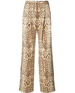 Ocelot Print Trousers