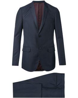 Monaco Selvage Dot Print Suit