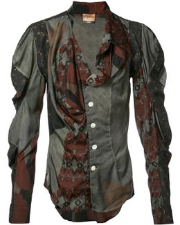 Mutton Sleeve Printed Shirt