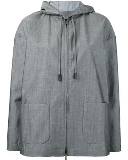 Patch Pockets Hooded Jacket