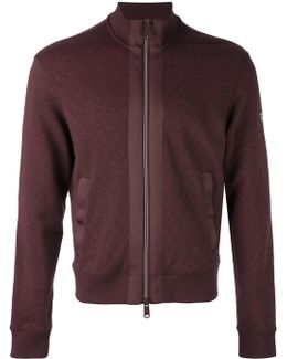 Zipped Bomber Sweatshirt
