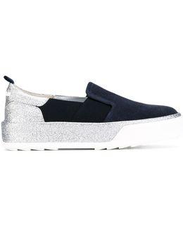 Glitter Detail Slip-on Sneakers