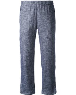 Bootcut Cropped Trousers