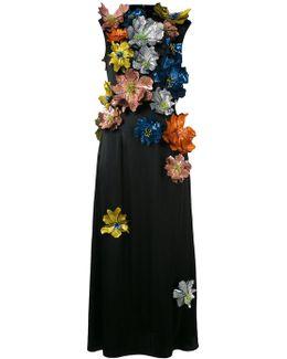 Sleeveless Flower Embellished Dress