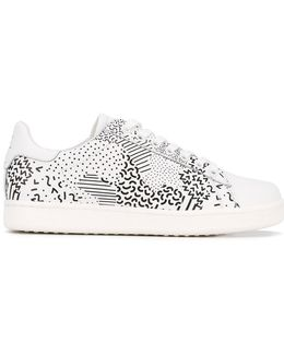 Multi-print Lace-up Sneakers