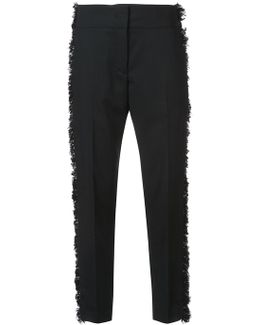 Frayed Sides Tailored Trousers