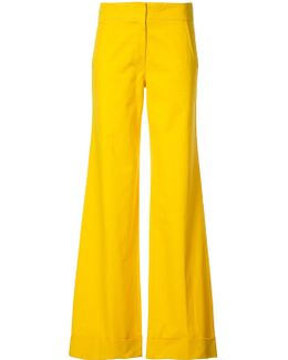 Elongated Flared Trousers