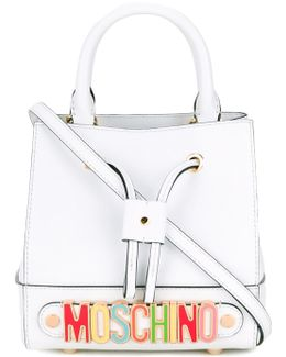Rainbow Plaque Bucket Bag