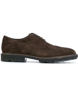 Brogue Detail Derby Shoes