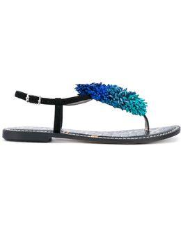 Gates Fringe Thong Sandals