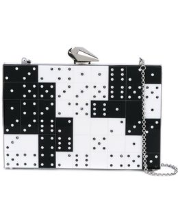 Domino Crystal Clutch Bag