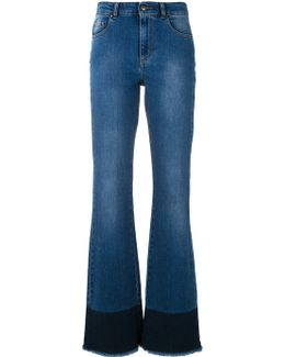 Frayed Bootcut Jeans