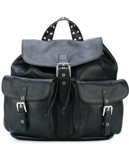 Multi-pockets Flap Backpack