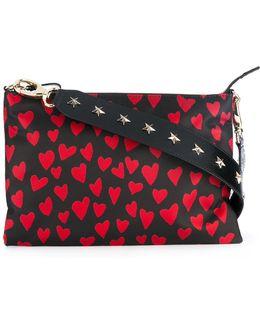 Heart Print Crossbody Bag