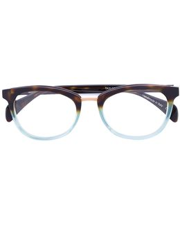 'taylor' Oval Frame Glasses
