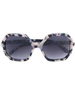 'yatton' Geometric Frame Sunglasses