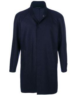 Ribbed Collar Coat