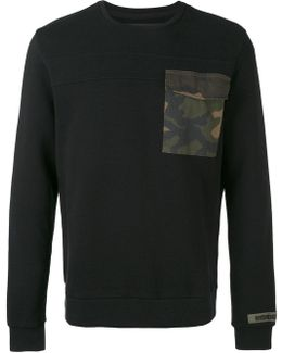 Contrast Patch Sweater