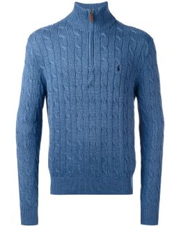 Cable Knit Zipped Jumper