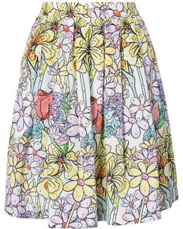 Paint By Number Print Skirt