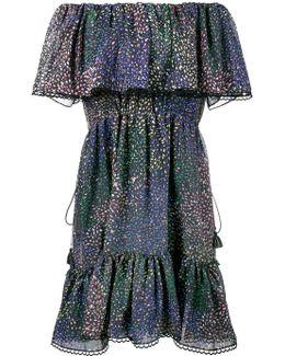 Firework Off-the-shoulder Printed Cotton-blend Mini Dress