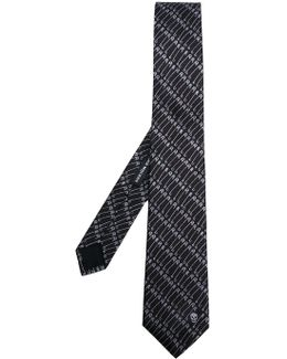 Safety Pin Printed Tie