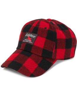 Checked Print Hat