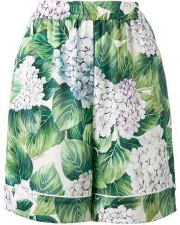 Hydrangea Print Pyjama Shorts