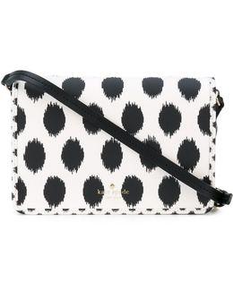 Polka Dot Print Crossbody Bag