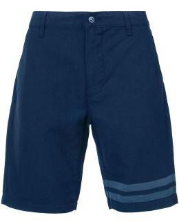 Striped Detail Bermuda Shorts