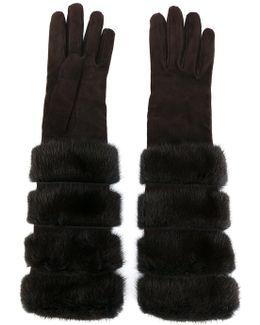 Furry Long Gloves
