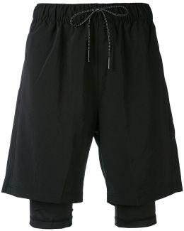 X Stampd Layered Shorts