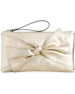 Studded Bow Clutch