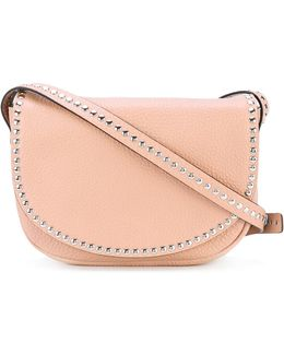 Flap Studded Crossbody Bag