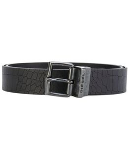 Embossed Crocodile Effect Belt