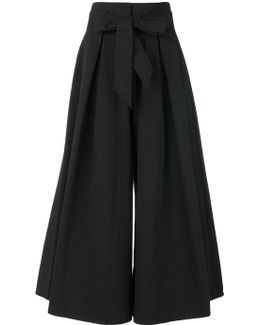 Blueberry Tailoring Ruffle Culottes