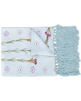 Foxglove Embroidered Dinner Scarf