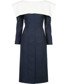 Collar Detail Fitted Dress