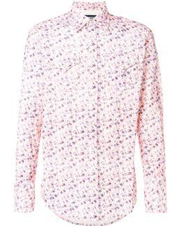 Corduroy Floral Print Shirt