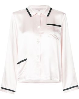 Contrast Trim Pyjama Shirt