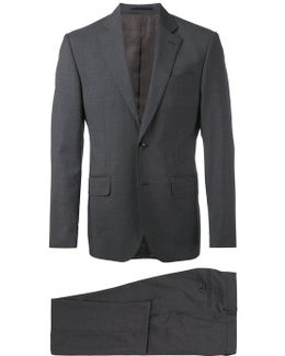 Micro Checked Two Piece Suit
