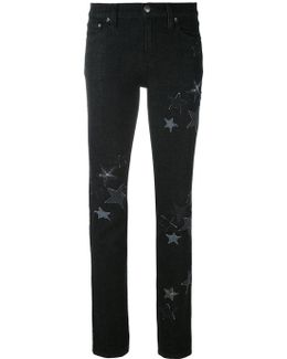 Star Embroidered Jeans