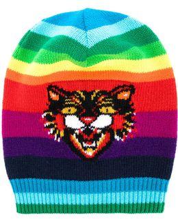 Gg Angry Cat Rainbow Beanie