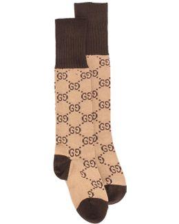 Gg Supreme Print Socks
