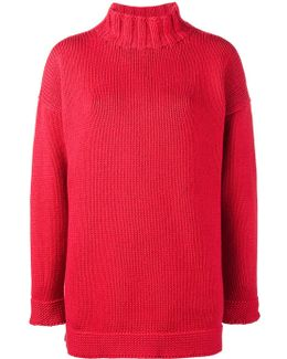 Slouchy Knitted Cashmere Jumper