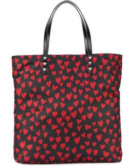 Heart Print Tote