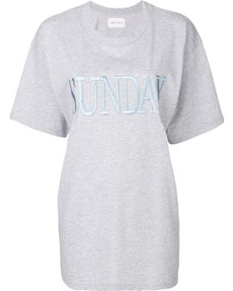 Sunday Embroidered T-shirt