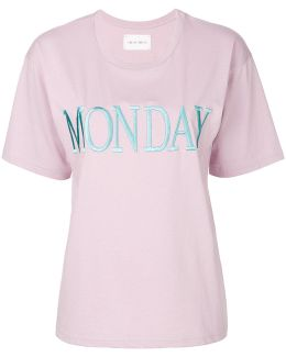 Monday Embroidered T-shirt