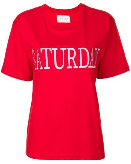 Saturday Embroidered T-shirt