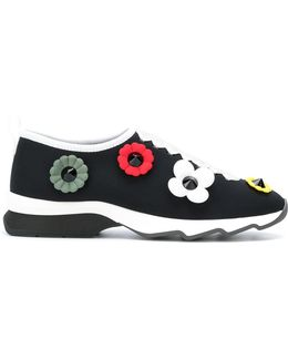 Slip-on Sneakers With Flowers